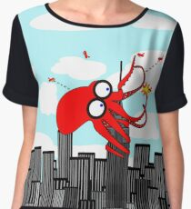 King Kraken Battles over New York City Women's Chiffon Top