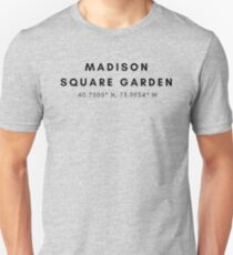 Madison Square Garden Lat/Long Unisex T-Shirt