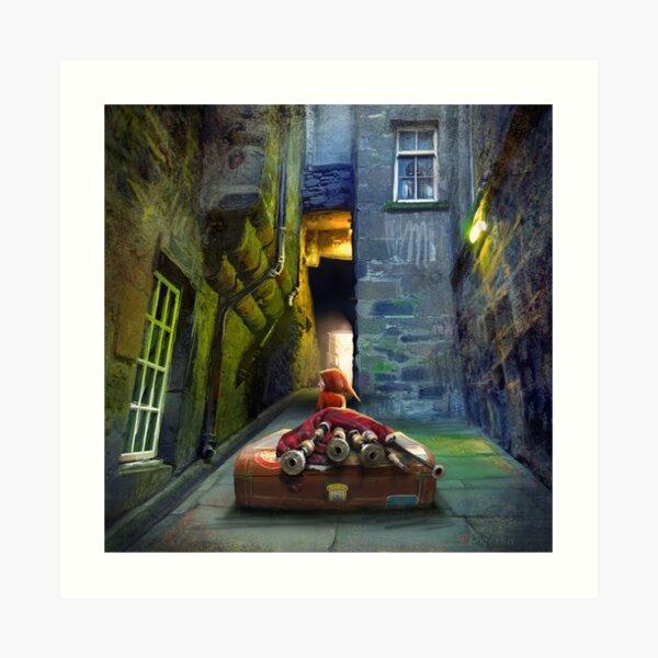 """Bagpiper from Trunk's Close"" Art Print"