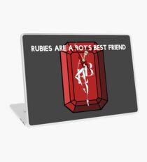 Rubies are a Boy's Best Friend Laptop Skin
