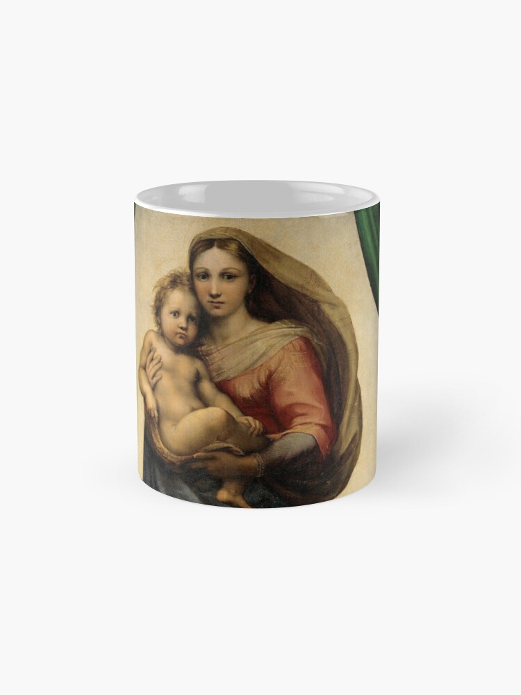 Alternate view of The Sistine Madonna Oil Painting by Raphael Mug