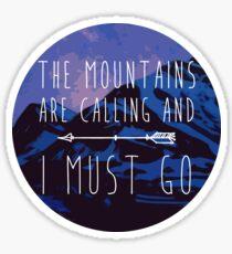 Mountains Calling Sticker