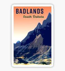 Badlands Peach Sky Travel Sticker