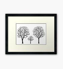 Small Tree Family Framed Print