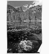 Hallett Peak from Nymph Lake Poster