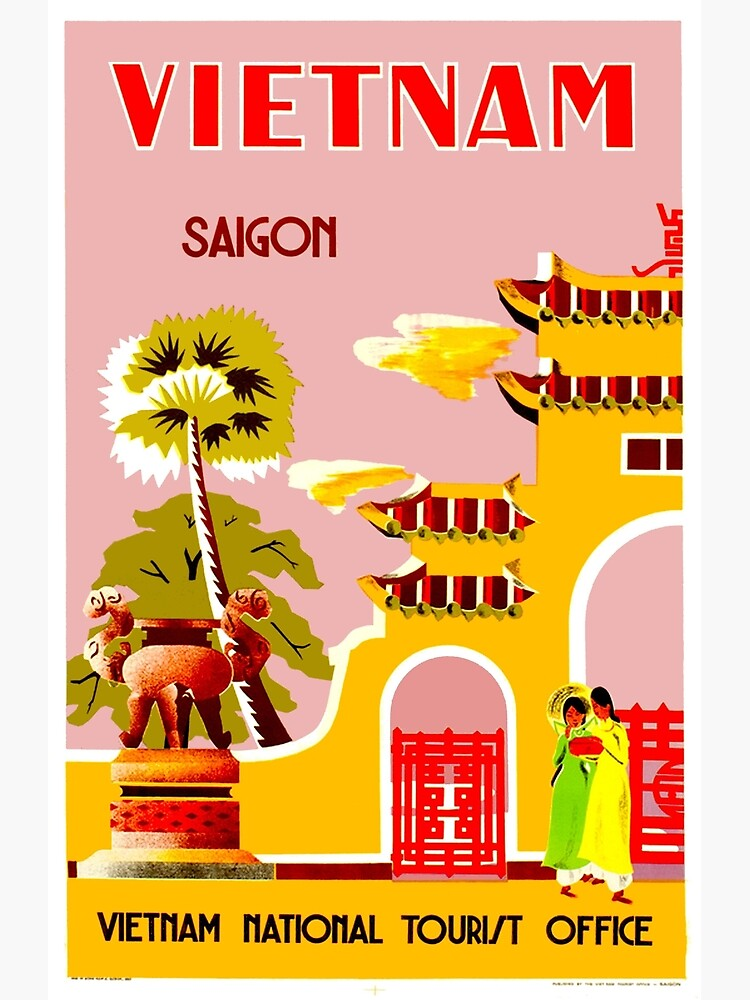 VIETNAM : Vintage Travel to Saigon Advertising Print by posterbobs