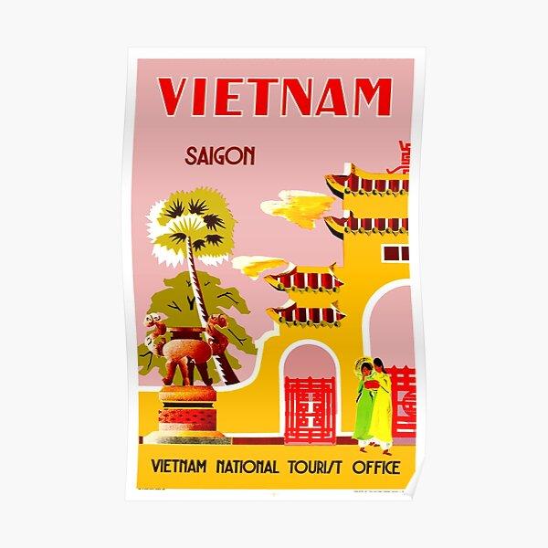 VIETNAM: Vintage Travel to Saigon Advertising Print Poster