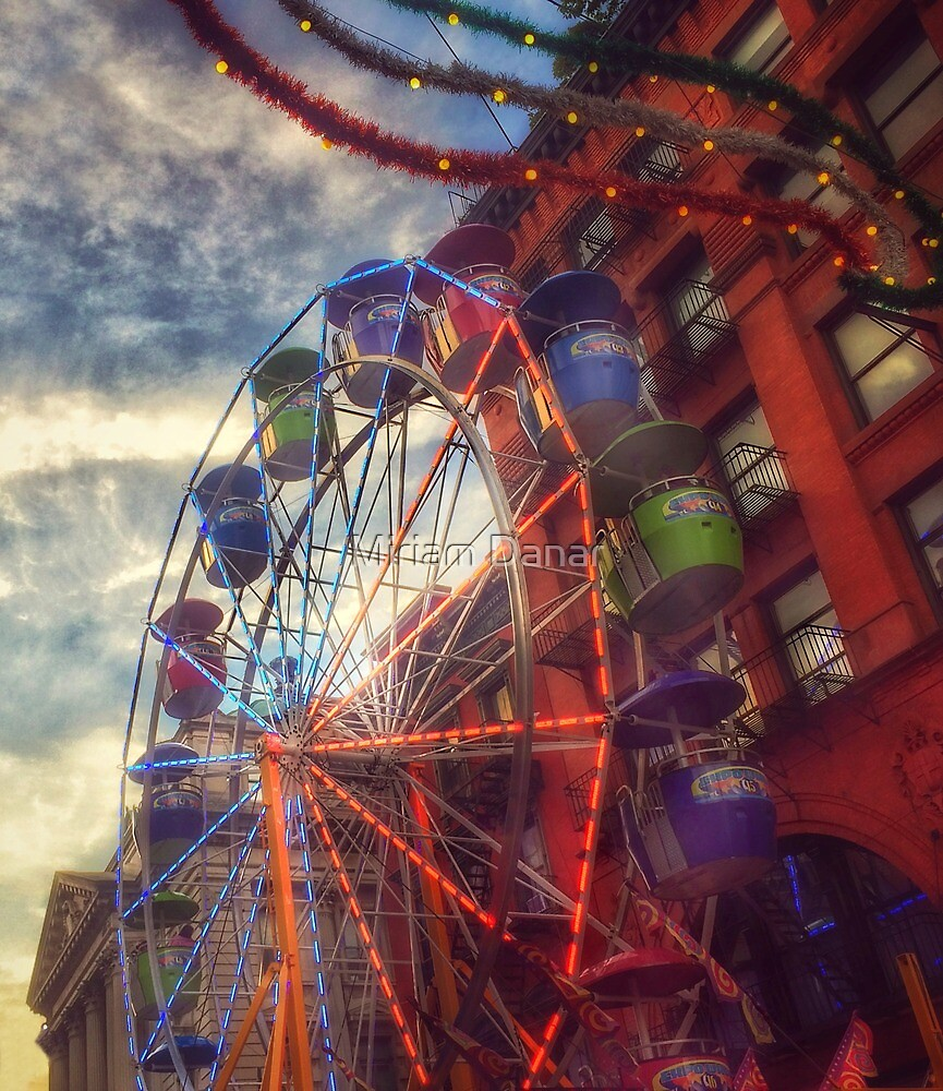 At the Feast of San Gennaro - Reaching for the Sky by Miriam Danar