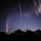 Comet McNaught meets the Space Shuttle by Wayne England