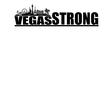 Vegas Strong | T-Shirt by nophoto