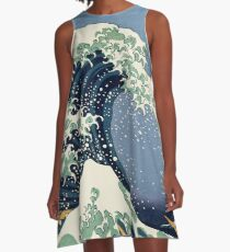 The Great Wave by Katsushika Hokusai A-Line Dress