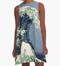 Die große Welle von Katsushika Hokusai A-Linien Kleid