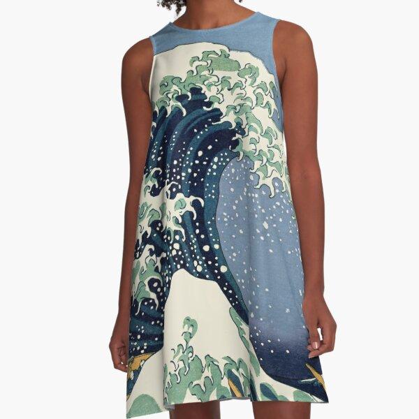 The Great Wave by Katsushika Hokusai A-Line Dress