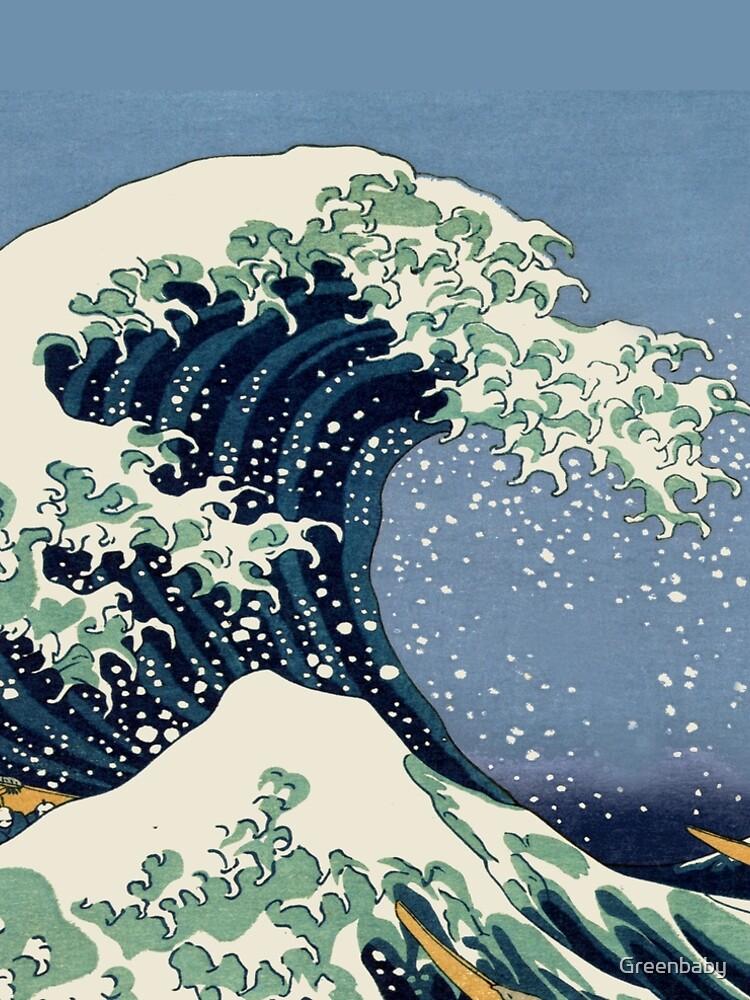 The Great Wave by Katsushika Hokusai by Greenbaby