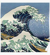 Die große Welle von Katsushika Hokusai Poster