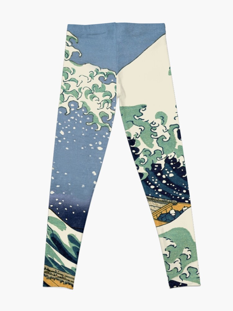 Alternate view of The Great Wave by Katsushika Hokusai Leggings