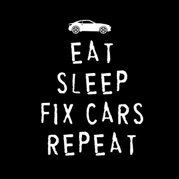EAT, SLEEP, FIX CARS , REPEAT BLACK by michaelbrucker
