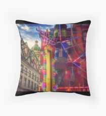 At the Feast of San Gennaro - Colors of Joy - large Throw Pillow