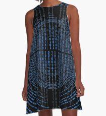 Binary Code A-Line Dress