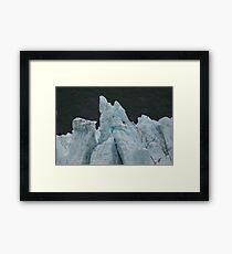 Blue Glaciers Framed Print