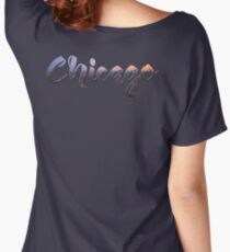 Chicago Skyline in Text Women's Relaxed Fit T-Shirt