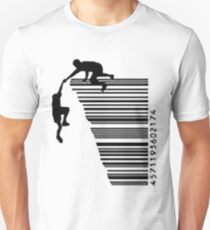 By scaling the bar code T-Shirt
