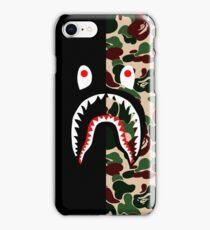 right half shark iPhone Case/Skin