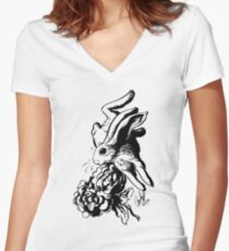 Swift-Inks Only Version Women's Fitted V-Neck T-Shirt