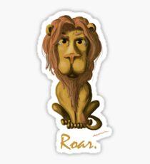 Funny Lion Roar Sticker