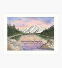 God's Peace- Psalm 34:4 Art Print
