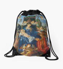 Feast of Rose Garlands by Albrecht Durer Drawstring Bag
