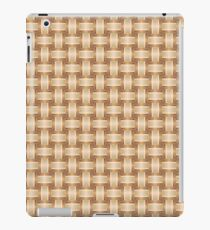 The Seamless Bronze Striped Pattern. A Wicker Structural Texture iPad Case/Skin