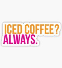 iced coffee Sticker