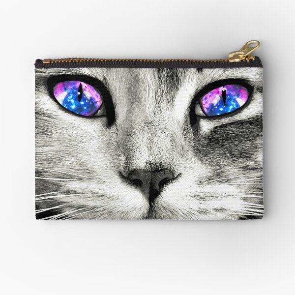Galaxy Cat Eyes Zipper Pouch
