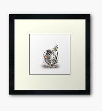 A Rat and a Daisy Framed Print