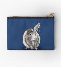 A Rat and a Daisy Zipper Pouch
