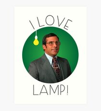 I love lamp Art Print