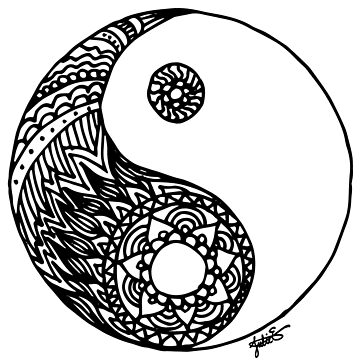 Tangled Yin Yang by julieerindesign