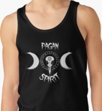 Odin's Protection Symbol - Runic Circle - Raven's Skull - Triple Goddess Tank Top