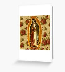 Mexican Virgin Mary of Guadalupe Catholic Religious Christian Greeting Card