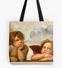 Angels Cherubs Raphael Santi Sistine Madonna Sweet Tote Bag