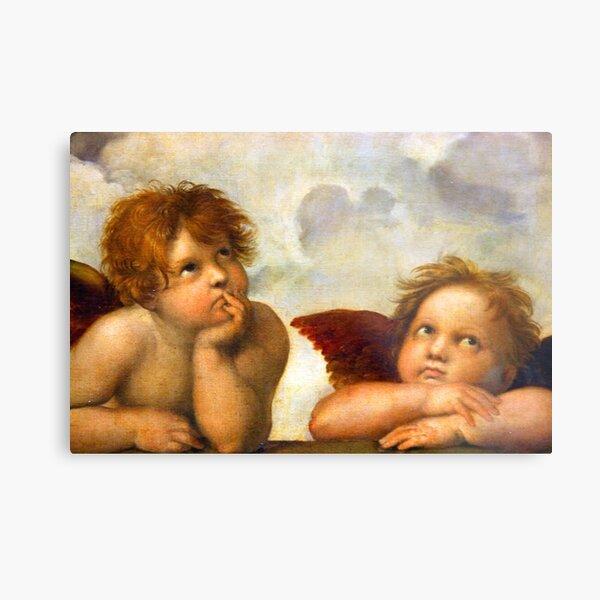 Angels Cherubs Raphael Santi Sistine Madonna Sweet Metal Print