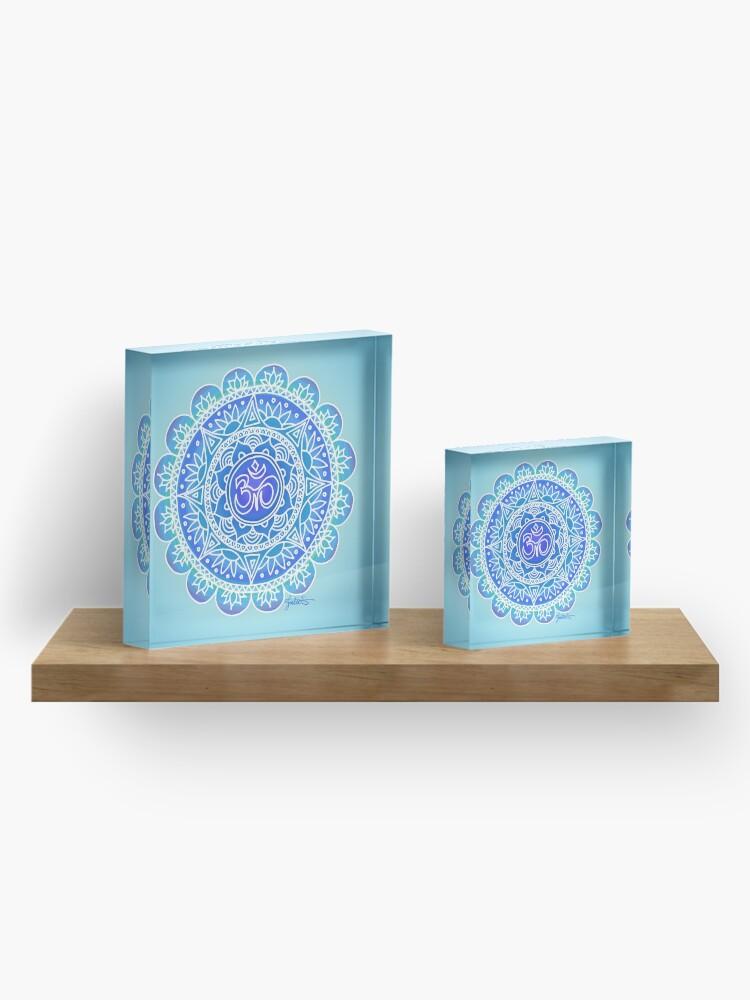 Alternate view of Blue Ohm Mandala Acrylic Block