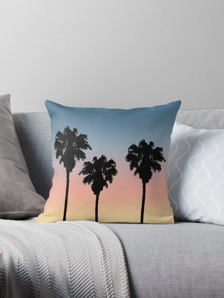 Sunset Palm Trees by julieerindesign