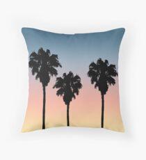 Sunset Palm Trees Throw Pillow