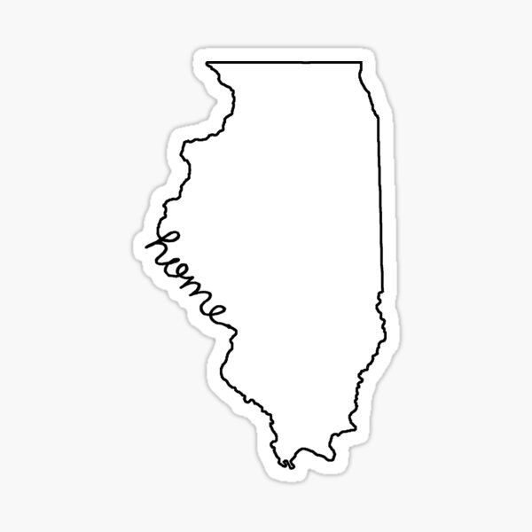 Illinois Home State Outline Sticker
