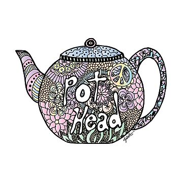 Tea Pot Head by julieerindesign