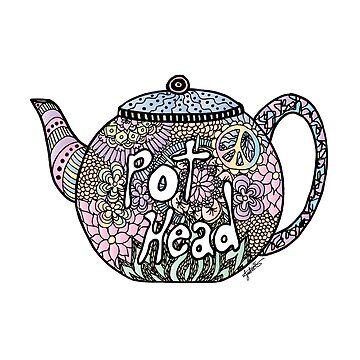 Tea Pot Head by julieerindesign