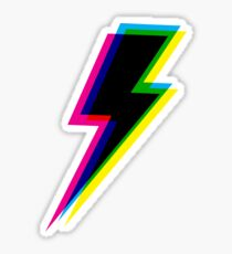 CMYK lightning (black) Sticker