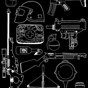 Playerunknown's Battlegrounds The Arsenal - PUBG White by pennypentan